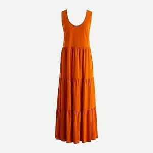 J.Crew Tiered Maxi Dress Bronzed Spice Medium